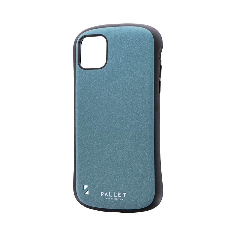 iPhone 11 Pro Max 超軽量・極薄・耐衝撃ハイブリッドケース「PALLET STEEL」 ライトブルー