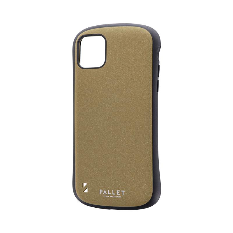 iPhone 11 Pro Max 超軽量・極薄・耐衝撃ハイブリッドケース「PALLET STEEL」 イエローベージュ