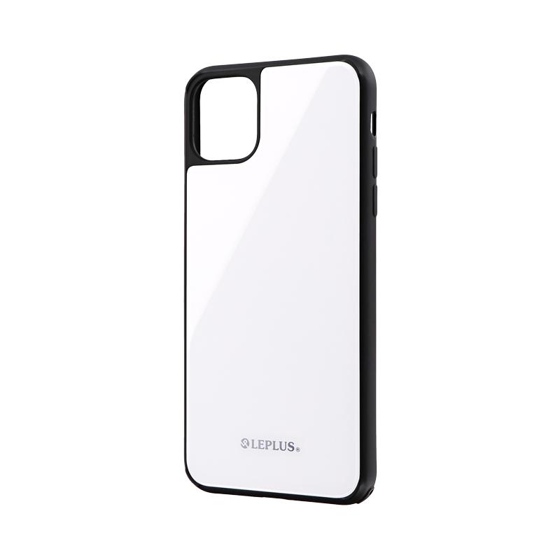 iPhone 11 Pro Max 背面ガラスシェルケース「SHELL GLASS」 ホワイト