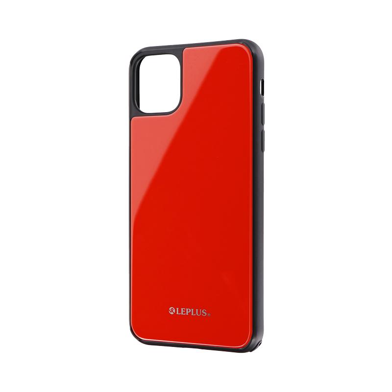 iPhone 11 Pro Max 背面ガラスシェルケース「SHELL GLASS」 レッド