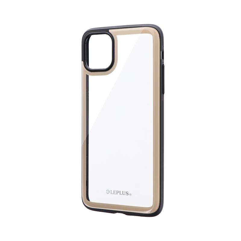 iPhone 11 Pro Max 背面3Dガラスシェルケース「SHELL GLASS Round」 ベージュ