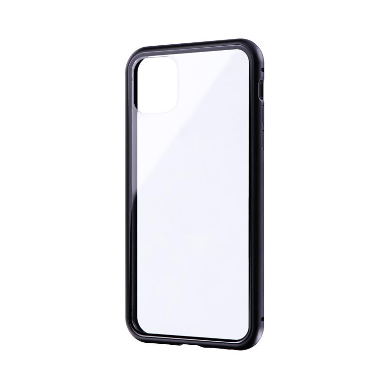 iPhone 11 Pro Max ガラス&アルミケース「SHELL GLASS Aluminum」 ブラック