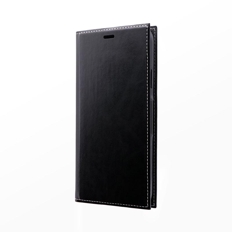 iPhone 11 Pro Max 薄型PUレザーフラップケース「PRIME」 ブラック