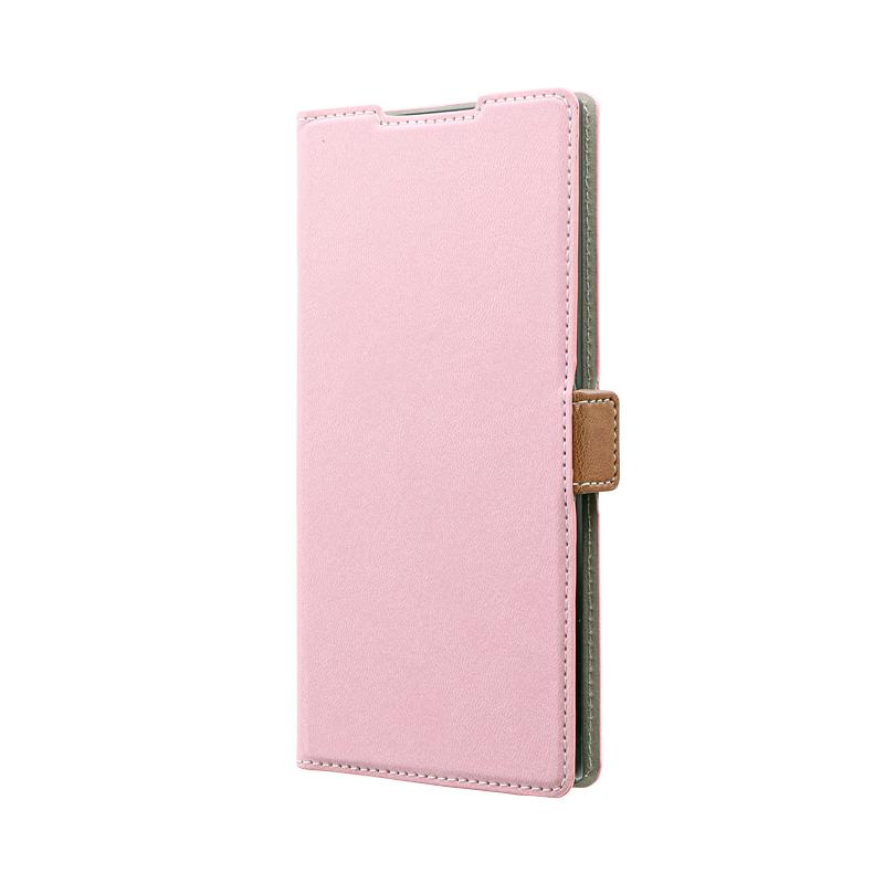 Galaxy Note 10+ SC-01M/SCV45 薄型軽量PUレザーフラップケース「PIECE」 ダスティピンク