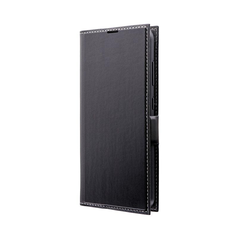Galaxy A20 SC-02M/SCV46 薄型PUレザーフラップケース「PRIME」 ブラック