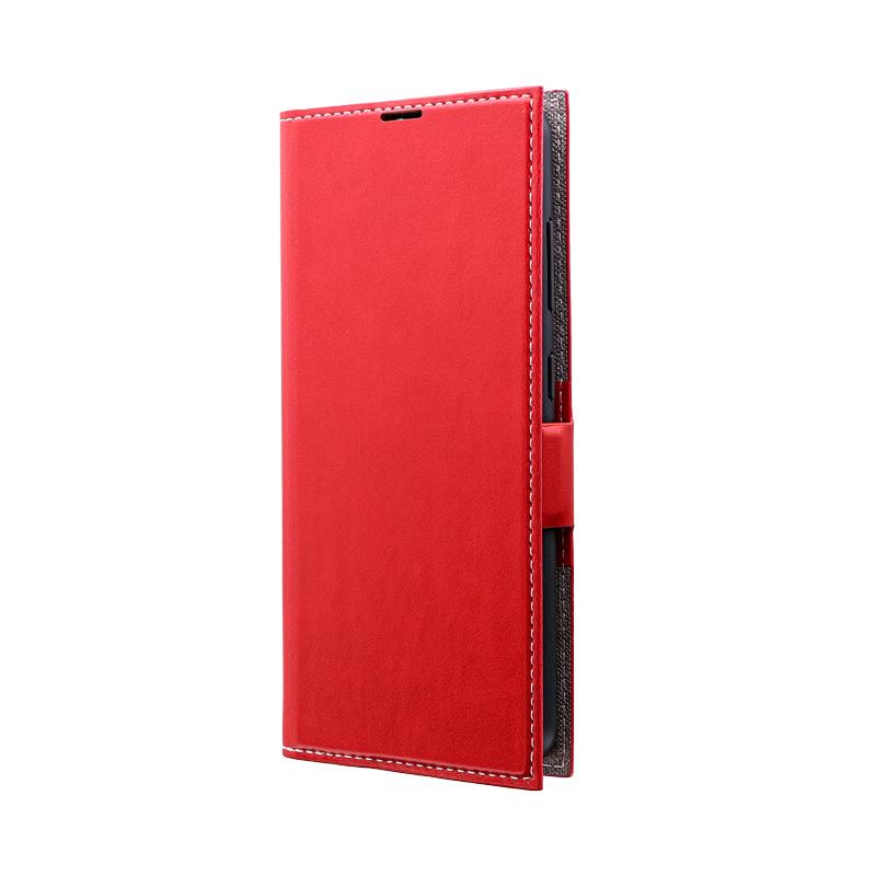 Galaxy A20 SC-02M/SCV46 薄型PUレザーフラップケース「PRIME」 レッド