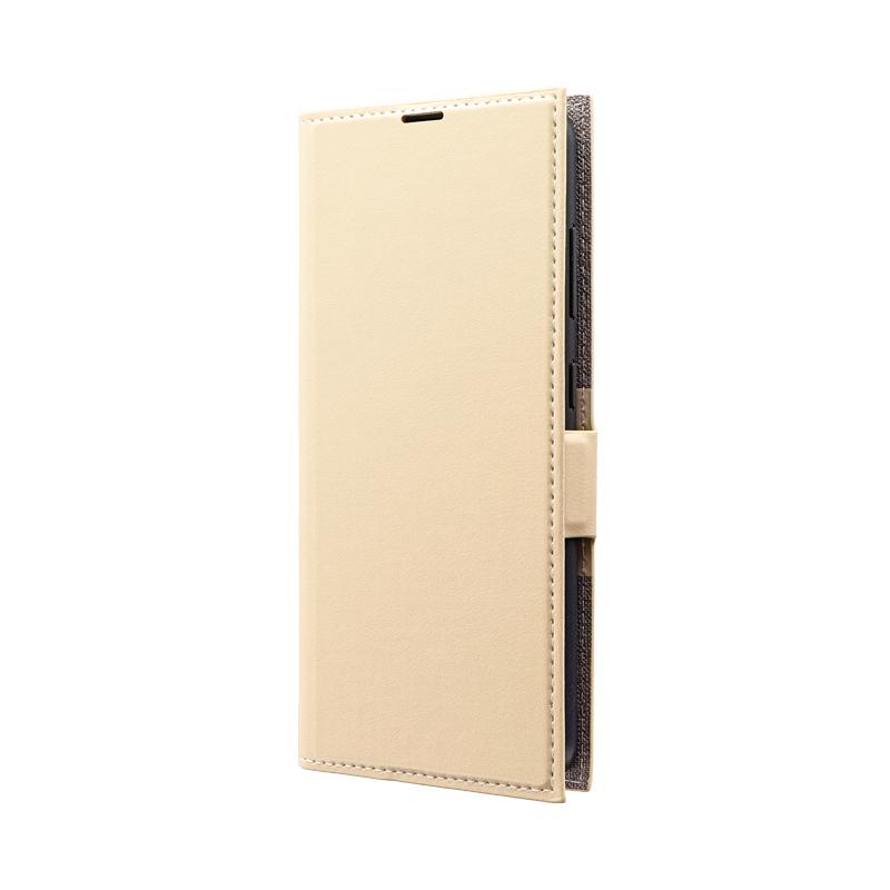 Galaxy A20 SC-02M/SCV46 薄型PUレザーフラップケース「PRIME」 ベージュ