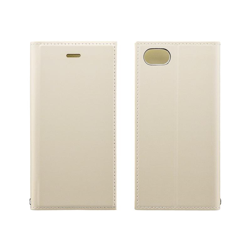 iPhone SE (第2世代)/8/7 薄型PUレザーフラップケース「PRIME」 アイボリー