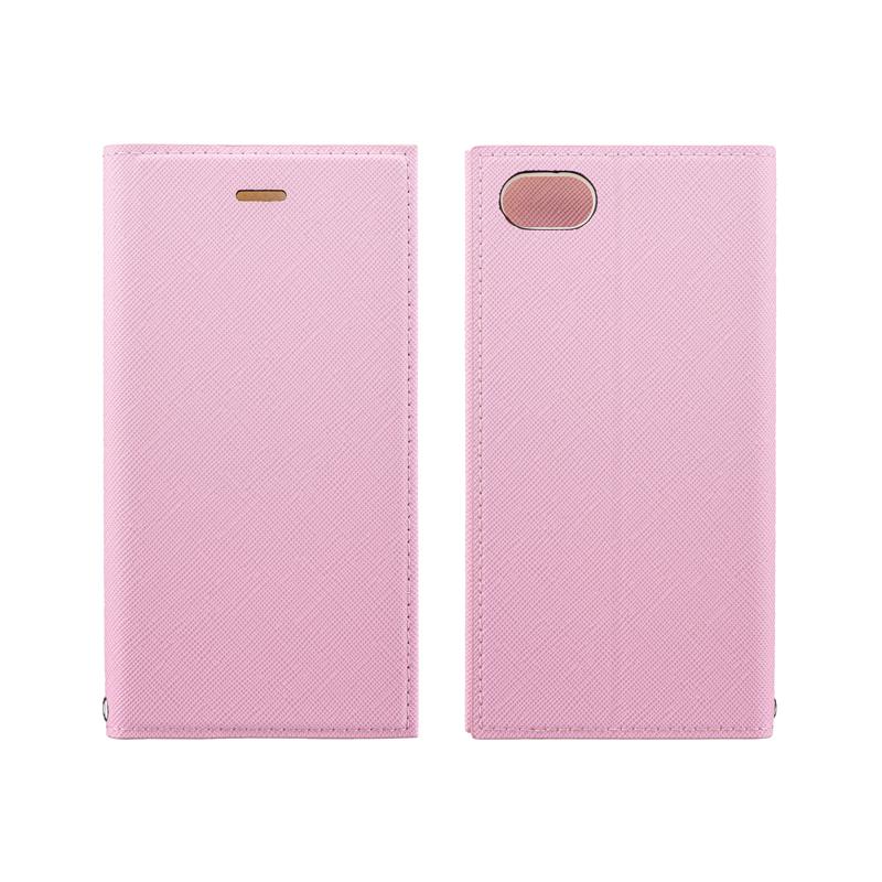 iPhone SE (第2世代)/8/7 薄型PUレザーフラップケース「PRIME」 ライトピンク