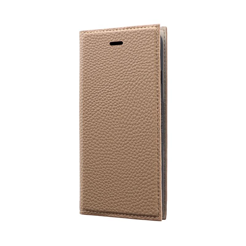 iPhone SE (第2世代)/8/7 薄型PUレザーフラップケース「FOLINO」 ライトブラウン