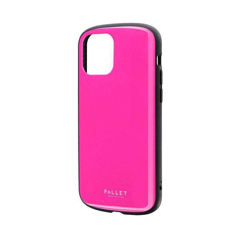iPhone 12/iPhone 12 Pro 超軽量・極薄・耐衝撃ハイブリッドケース「PALLET AIR」 ホットピンク
