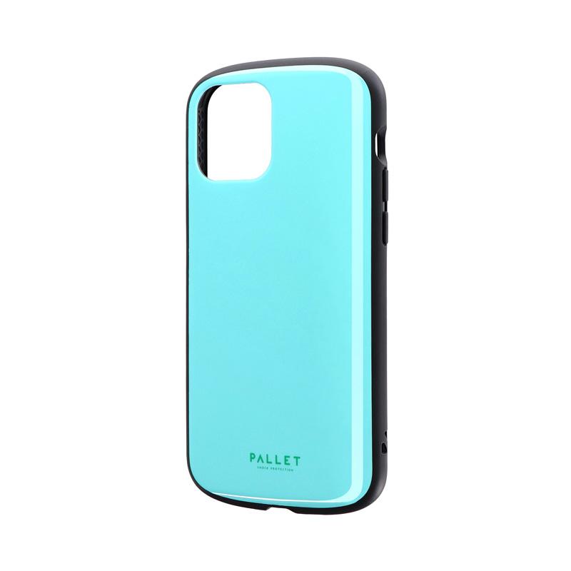 iPhone 12/iPhone 12 Pro 超軽量・極薄・耐衝撃ハイブリッドケース「PALLET AIR」 ミントブルー
