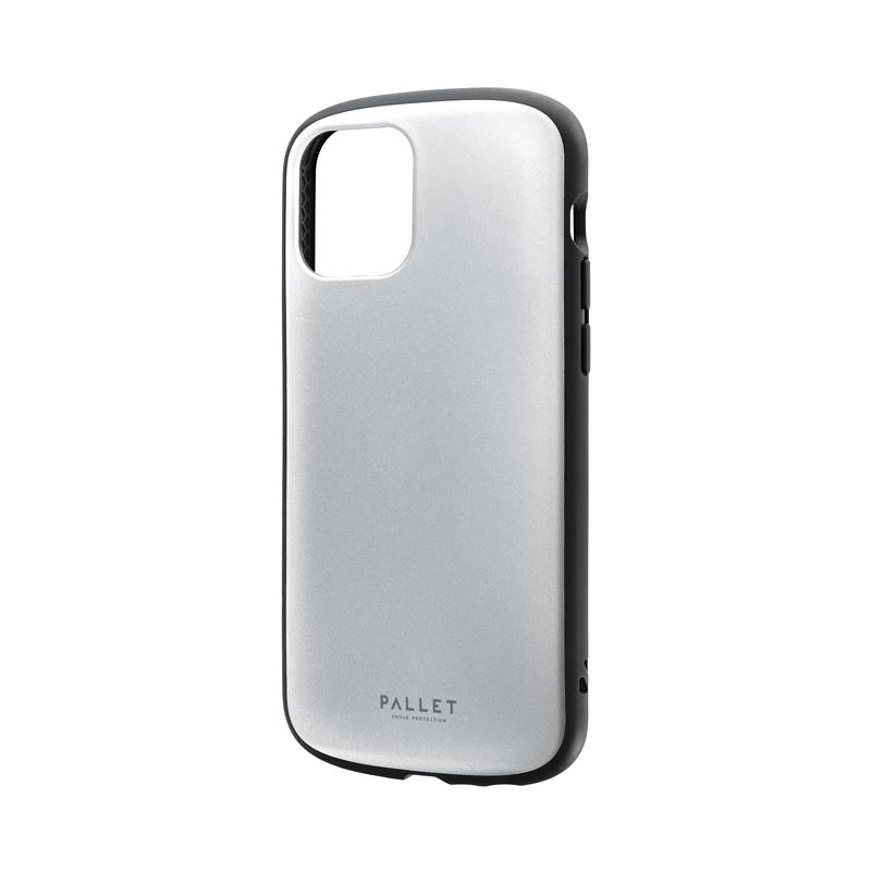 iPhone 12/iPhone 12 Pro 超軽量・極薄・耐衝撃ハイブリッドケース「PALLET AIR」 マットシルバー