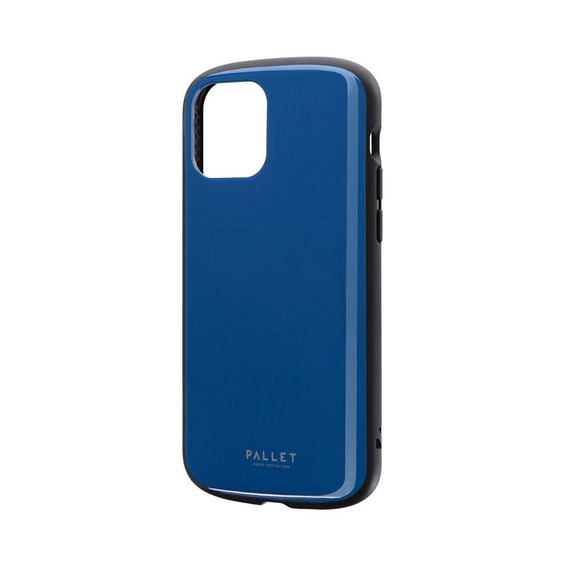 iPhone 12/iPhone 12 Pro 超軽量・極薄・耐衝撃ハイブリッドケース「PALLET AIR」 ダークブルー