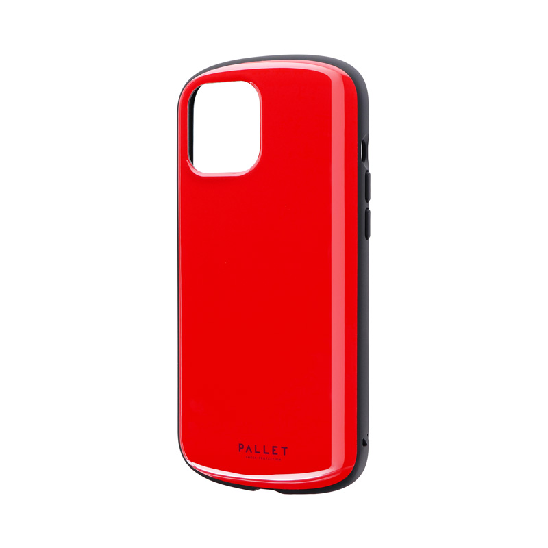 iPhone 12 Pro Max 超軽量・極薄・耐衝撃ハイブリッドケース「PALLET AIR」 レッド