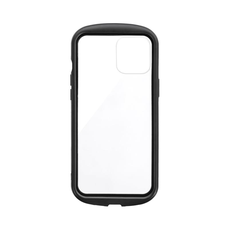 iPhone 12 Pro Max 耐衝撃ハイブリッドケース「PALLET CLEAR Flat」 ブラック
