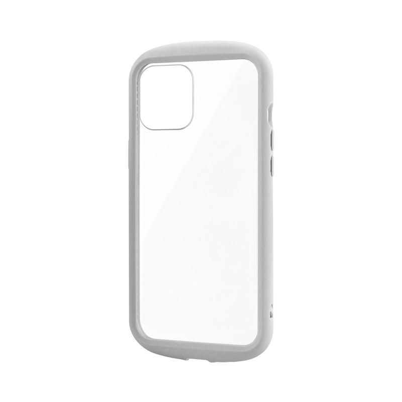 iPhone 12 Pro Max 耐衝撃ハイブリッドケース「PALLET CLEAR Flat」 ライトグレー
