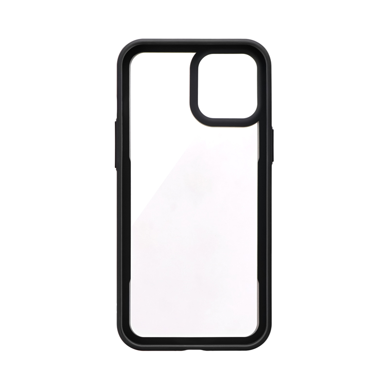iPhone 12 Pro Max ラウンドエッジガラスシェルケース「SHELL GLASS Round」 ホワイト