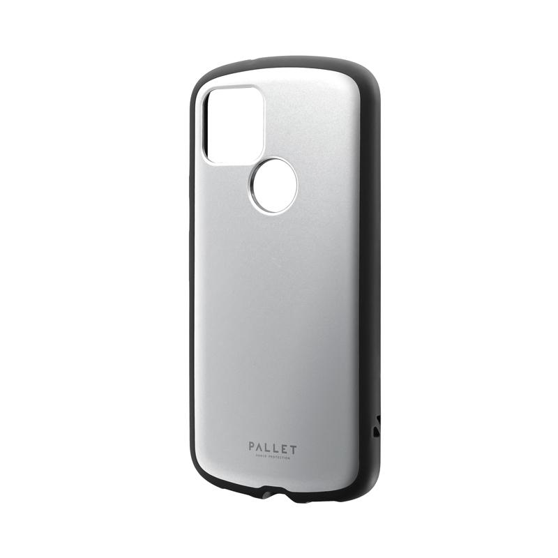 Google Pixel 5 耐衝撃ハイブリッドケース 「PALLET AIR」 マットシルバー