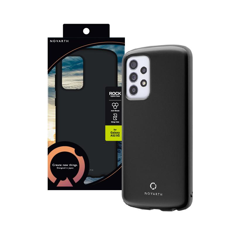 Galaxy A52 5G SC-53B 耐衝撃ハイブリッドケース「ROCK」 マットブラック