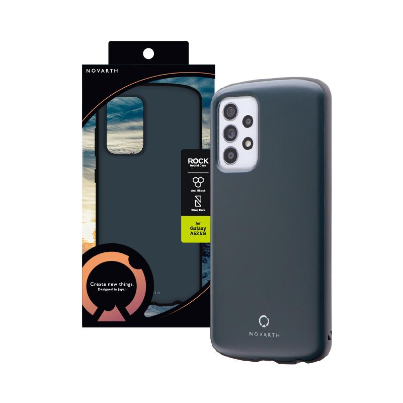 Galaxy A52 5G SC-53B 耐衝撃ハイブリッドケース「ROCK」 ダークグレー
