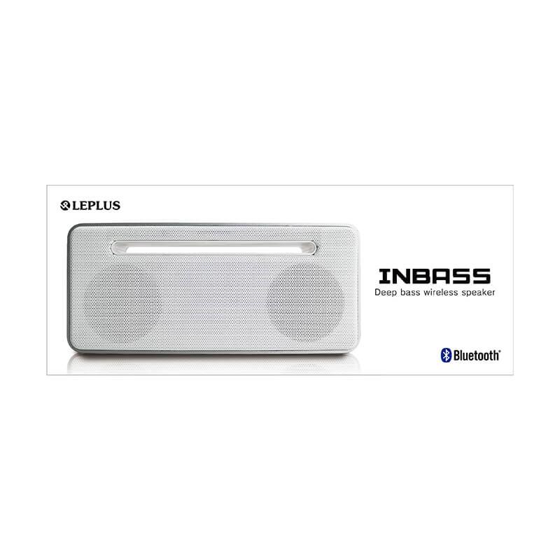 ワイヤレス ステレオスピーカー「INBASS(インバス)」 ホワイト