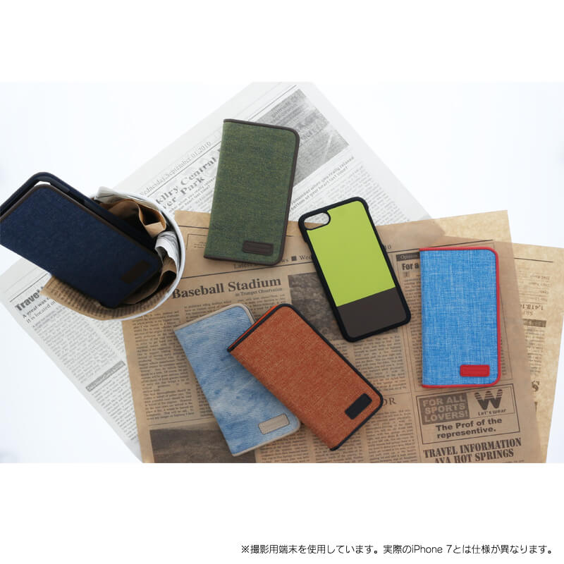 iPhone 7 【+U】Amari/マグネット式2WAYケース/ウォッシュデニム