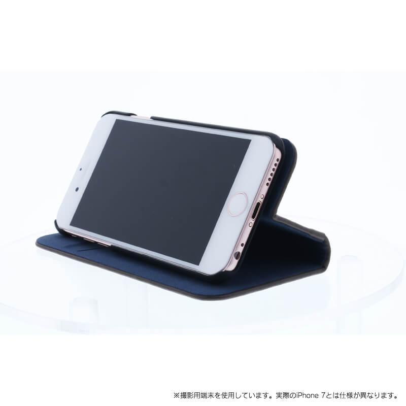 iPhone 7 【+U】Amari/マグネット式2WAYケース/ブルー