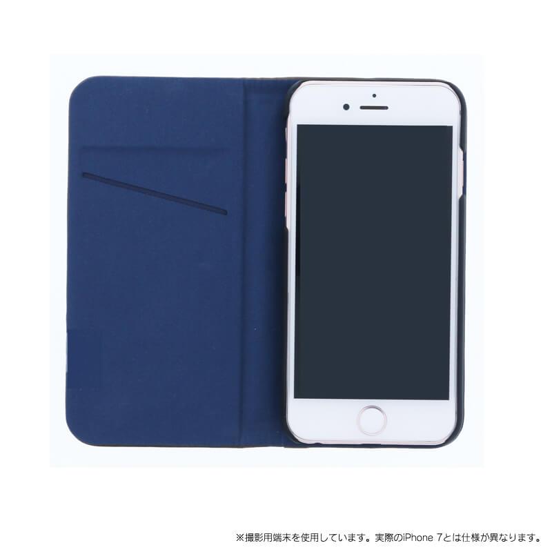 iPhone 7 【+U】Amari/マグネット式2WAYケース/ブラウン