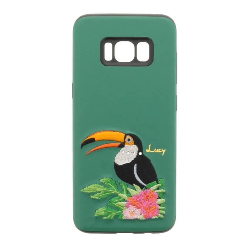 Galaxy S8 SC-02J/SCV36 【Lucy】クリスタル/刺繍ハイブリットケース オニオオハシ
