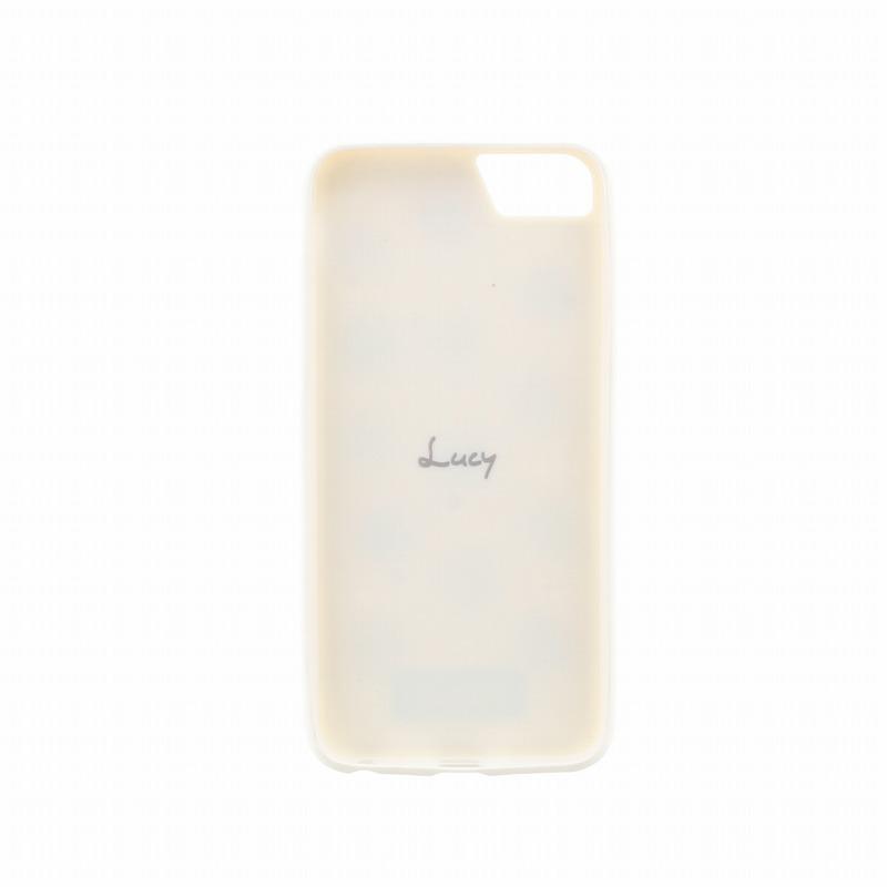 iPhone 8/7/6s/6【Lucy】ポンポンハイブリットケース/ばななみるく