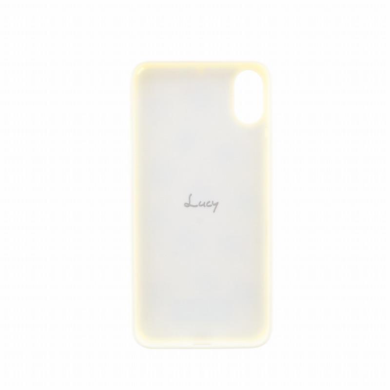 iPhone X【Lucy】ポンポンハイブリットケース/ばななみるく