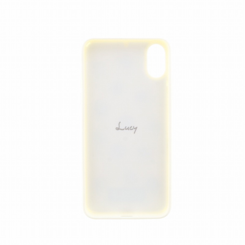iPhone X【Lucy】ポンポンハイブリットケース/めろんみるく