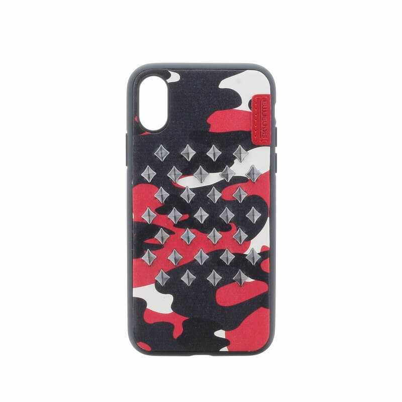 iPhone XS/iPhone X シェルケース/ハンドメイドスタッズ/Ambush Collection/Flame
