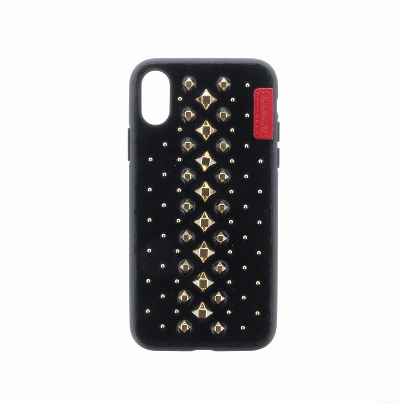 iPhone XS/iPhone X シェルケース/ハンドメイドスタッズ/Nimbus/Blackstar