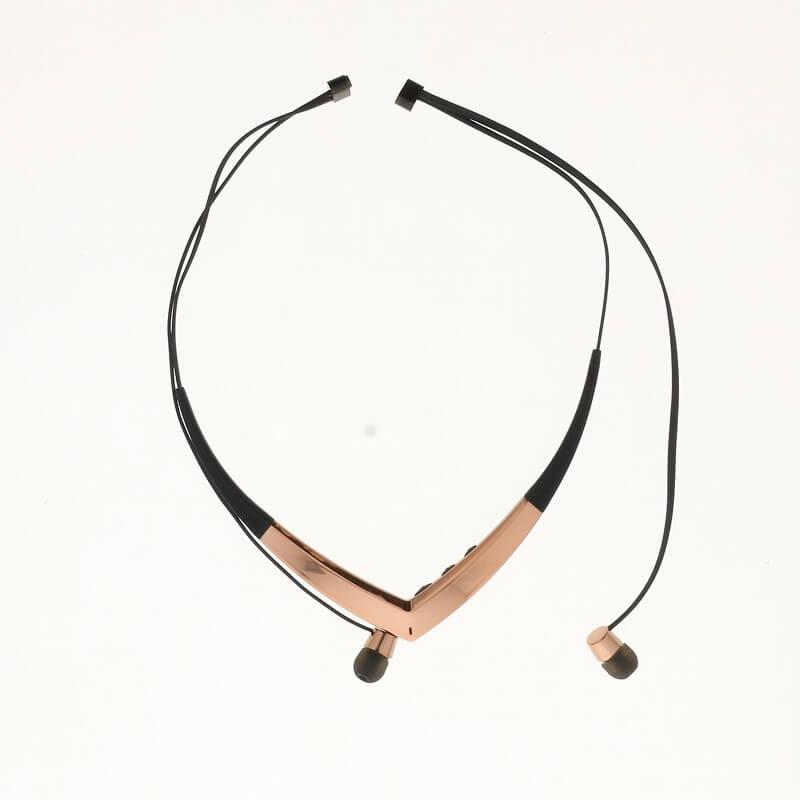 スマートフォン汎用【Lucy】Necklace Type Bluetooth Earphone/ピーチピンク