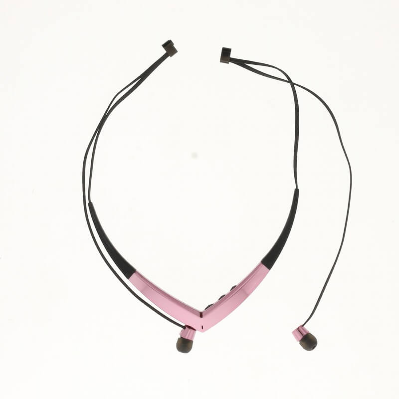 スマートフォン汎用【Lucy】Necklace Type Bluetooth Earphone/サクラピンク