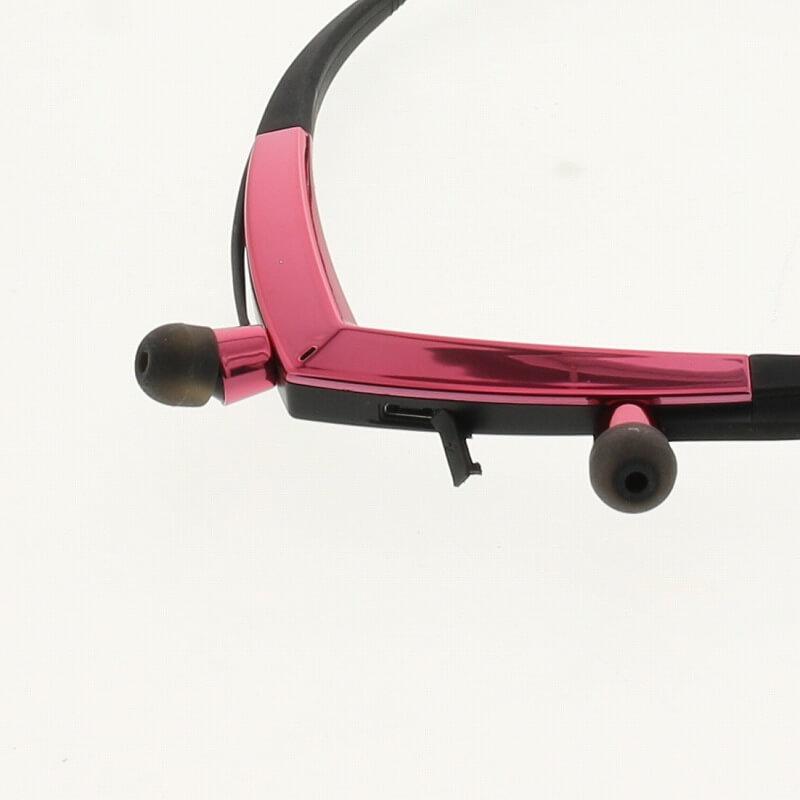 スマートフォン汎用【Lucy】Necklace Type Bluetooth Earphone/チェリーピンク