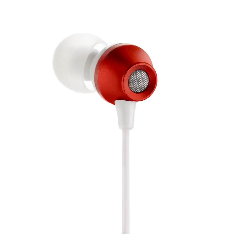 iPhone/iPad/iPod Lightningコネクタ対応イヤフォン(ボリューム/マイク付) 「極の音域」 レッド