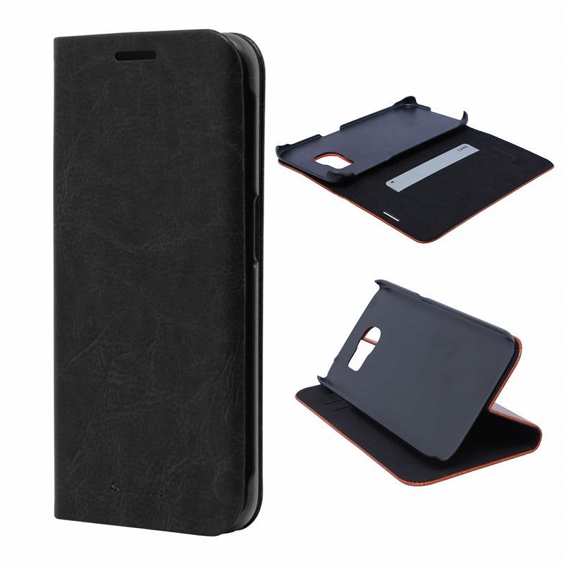 Galaxy S6 edge SC-04G/SCV31 ブックタイプPUレザーケース 「PRIME」 ブラック