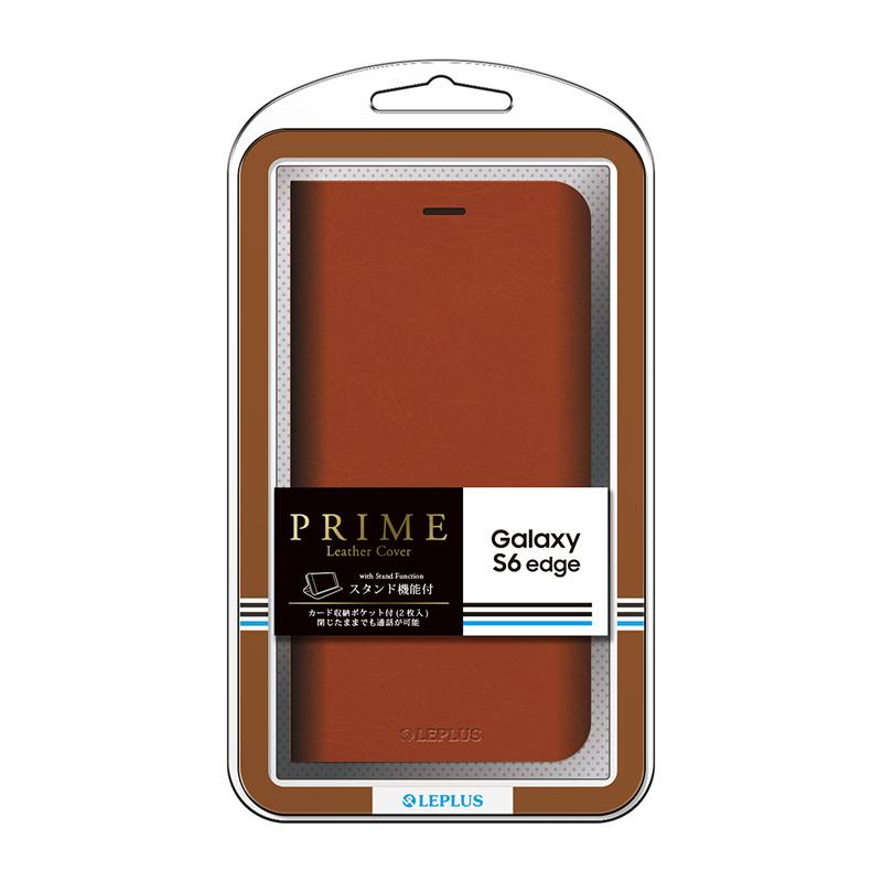 Galaxy S6 edge SC-04G/SCV31 ブックタイプPUレザーケース 「PRIME」 ブラウン