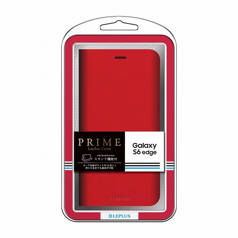 Galaxy S6 edge SC-04G/SCV31 ブックタイプPUレザーケース 「PRIME」 レッド