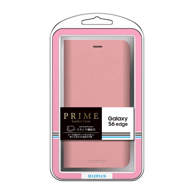 Galaxy S6 edge SC-04G/SCV31 ブックタイプPUレザーケース 「PRIME」 ピンク