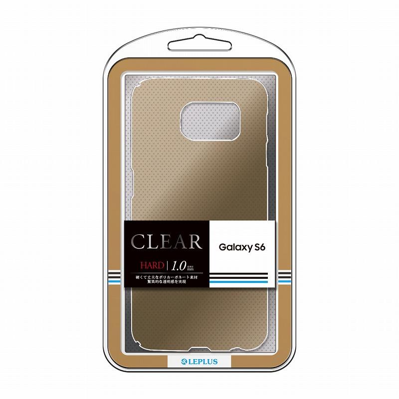 Galaxy S6 SC-05G ハードケース 「CLEAR HARD」 クリアゴールド