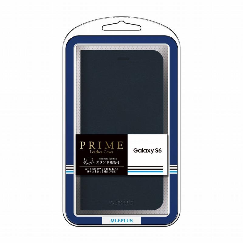 Galaxy S6 SC-05G ブックタイプPUレザーケース 「PRIME」 ネイビー