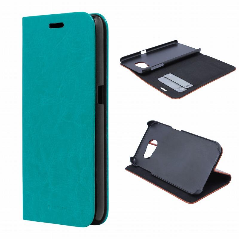 Galaxy S6 SC-05G ブックタイプPUレザーケース 「PRIME」 ブルー