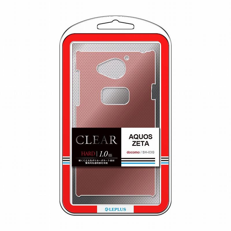 AQUOS ZETA SH-03G ハードケース 「CLEAR HARD」 クリアレッド