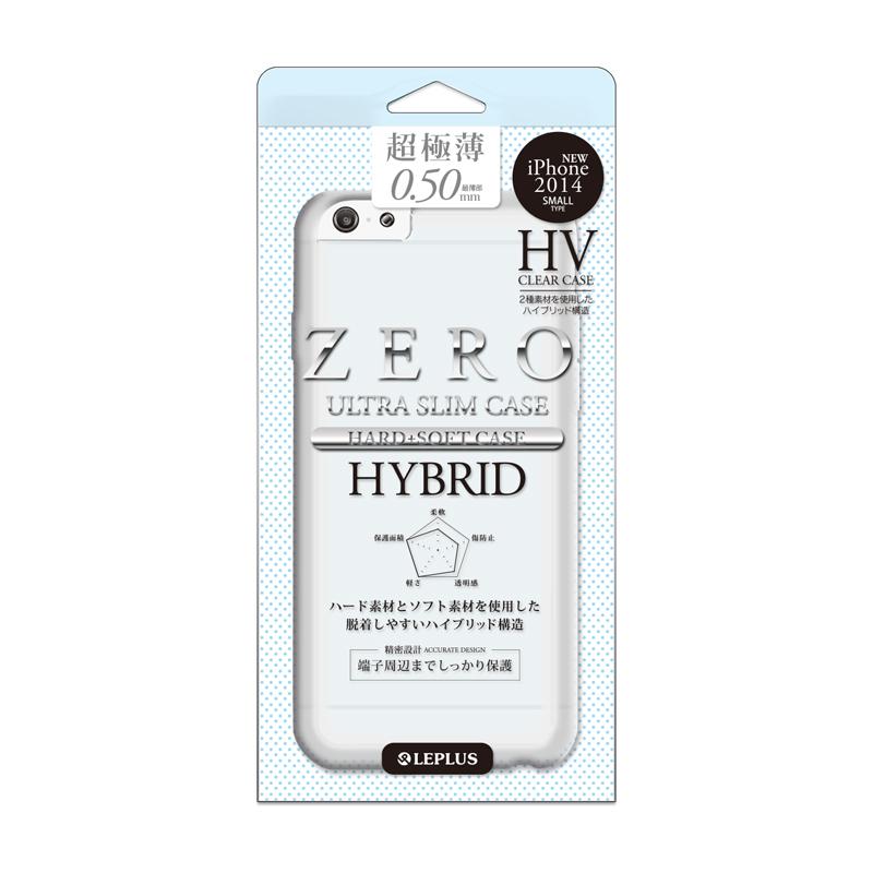 iPhone 6/6S [ZERO HV] 超極薄0.5mm ハイブリッドケース クリア+スモーク