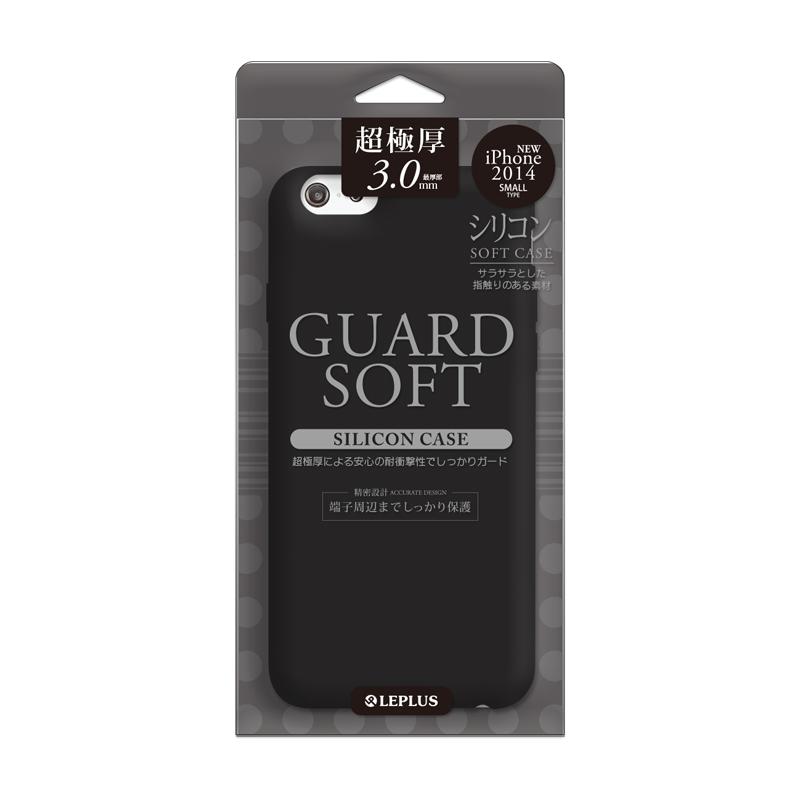iPhone 6 [GUARD SOFT] 極厚3.0mm シリコンケース ブラック
