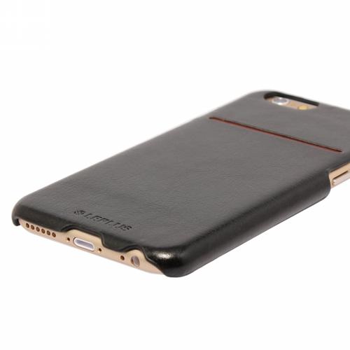 iPhone 6/6S [PRIME] PUレザーシェル ブラック